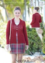 Sirdar Country Style 4ply - 7113 Crochet Cardigan Pattern